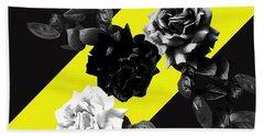Roses Versus Yellow Hand Towel