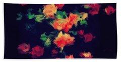 Roses Bath Towel by Wolfgang Rain