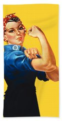 Rosie The Riveter Retro Style Hand Towel