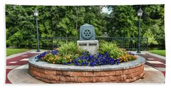 Hand Towel featuring the photograph Rotary Park Monument Garden by Trey Foerster