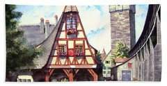 Rothenburg Memories Bath Towel