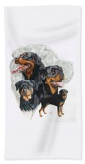 Rottweiler W/ghost  Hand Towel
