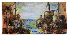 Rough Country Abstract Bath Towel