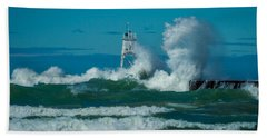 Rough Seas  Bath Towel