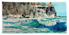 Rough Water At Split Rock Bath Towel