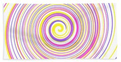 Round And Round Bath Towel