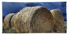 Hand Towel featuring the photograph Round Bales by Brad Allen Fine Art