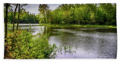 Hand Towel featuring the photograph Round The Bend In Oil 36 by Mark Myhaver
