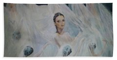 Roundelay. Ballet Dancers Bath Towel