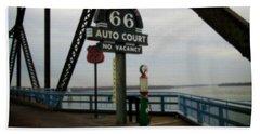 Route 66 Auto Court Bath Towel