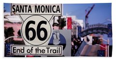 Route 66 End Of Trail Hand Towel