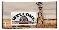 Route 66 Midpoint  Hand Towel