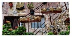 Rovinj Old Town Courtyard, Rovinj Croatia Bath Towel