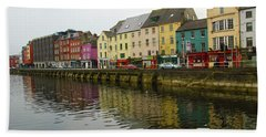 Row Homes On The River Lee, Cork, Ireland Bath Towel