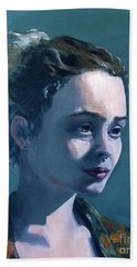 Hand Towel featuring the painting Rowan by Diane Daigle