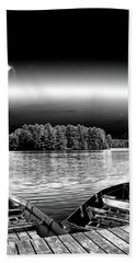 Hand Towel featuring the photograph Rowboats At The Dock 3 by David Patterson