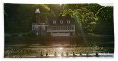 Bath Towel featuring the photograph Rowing In Front Of Segley Club by Bill Cannon