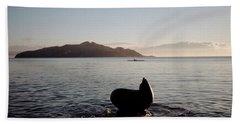 Rowing Off Sausalito, Ca Bath Towel