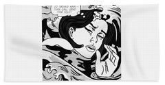 Drowning Girl  Bath Towel