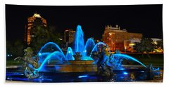 Royal Blue J. C. Nichols Fountain  Hand Towel