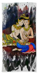 Royal Lovers Of Siam  Hand Towel by Ian Gledhill