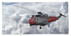 Bath Towel featuring the photograph Royal Navy - Sea King by Pat Speirs