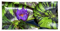 Royal Purple Hand Towel by Dennis Baswell