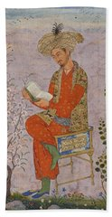 Royal Reader Bath Towel by Asok Mukhopadhyay