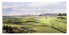 Royal Troon Golf Course Bath Towel by Bill Holkham
