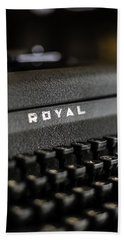 Bath Towel featuring the photograph Royal Typewriter #19 by Chris Coffee