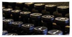 Bath Towel featuring the photograph Royal Typewriter #5 by Chris Coffee