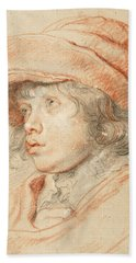 Rubens's Son Nicolaas Wearing A Red Felt Cap Hand Towel