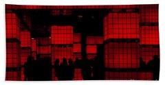 Rubik's Dream Bath Towel by Andrew Paranavitana