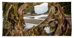 Ruby Beach Driftwood 2007 Hand Towel