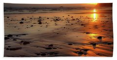Ruby Beach Sunset Hand Towel by David Chandler