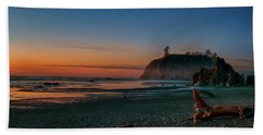 Hand Towel featuring the photograph Ruby Beach Sunset by Mary Jo Allen