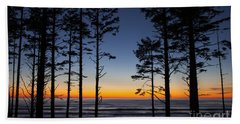 Ruby Beach Trees #4 Hand Towel