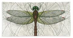 Ruby Meadowhawk Dragonfly Bath Towel