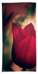 Ruby Red Tulip Hand Towel