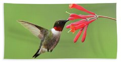 Ruby-throated Hummer Hand Towel