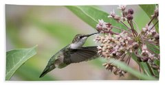 Ruby Throated Hummingbird 2016-1 Bath Towel