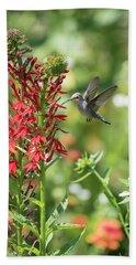Rubythroated Hummingbird 2016-3 Bath Towel by Thomas Young