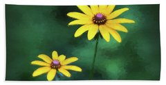 Rudbeckia Art Bath Towel