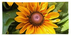 Hand Towel featuring the photograph Rudbeckia Bloom by Sheila Brown