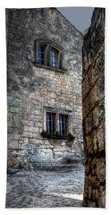 Hand Towel featuring the photograph Rue Du Chateau Les Baux France by Tom Prendergast