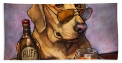 Ruff Whiskey Hand Towel by Sean ODaniels