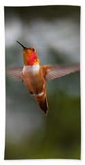 Rufous Hummingbird Bath Towel
