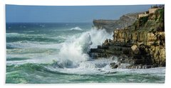 Rugged Coastal Seascape Hand Towel by Marion McCristall