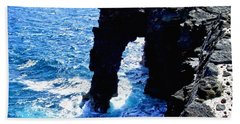 Bath Towel featuring the photograph Rugged Kona Sea Arch by Amy McDaniel