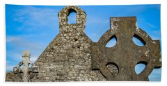 Hand Towel featuring the photograph Ruins At 12th Century Killone Abbey by James Truett